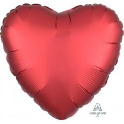 Satin Sangria Heart Foil Balloon
