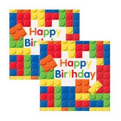 Building Blocks Serviettes (Packs of 10)