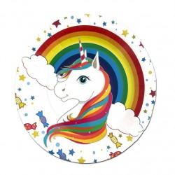 Rainbow Unicorn Plates (pack of 8)