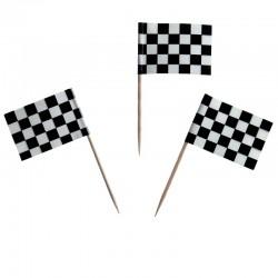 Checkered Flag Food Picks