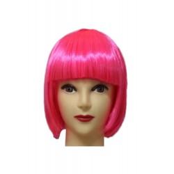 Wig - Short Bob Neon Pink
