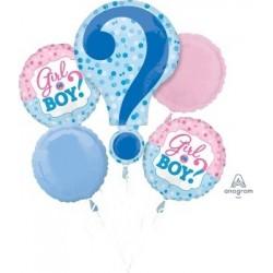 Gender Reveal Foil Balloons