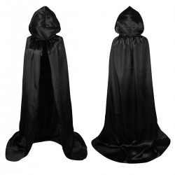 Halloween Cape Material 150cm Black with hood