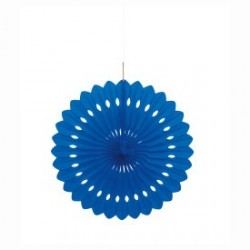 Royal Blue Decorative Fan