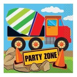 Construction Party Serviettes