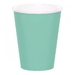 Plain mint green paper cups