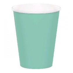 Plain mint green paper cups
