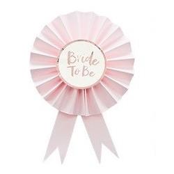 Bride to be award ribbon - Pink