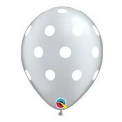 Silver Polka Dot Balloons (pack of 5)