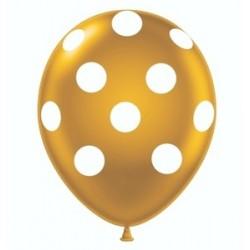 Gold Polka Dot Balloon x 1
