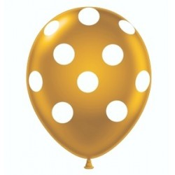 Gold Polka Dot Balloon x 1