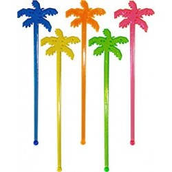 Palm tree swizzle sticks (pk/12)