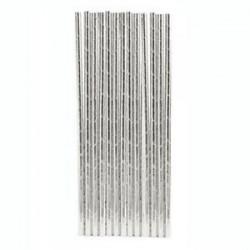 Silver Paper Straws (25pcs)