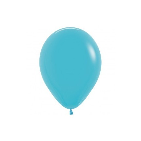 Plain Carribean Blue Balloons - Helium inflation available in store. My Party Supplies Broadacres