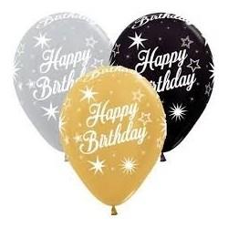 Happy Birthday Latex Balloon 30cm