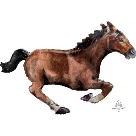 Galloping Horse SuperShape Foil Balloon