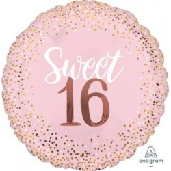 JUM: Sixteen Blush Foil Balloon