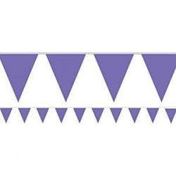 Lilac Flag Bunting (2.5m)