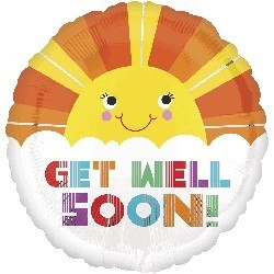 Get Well Soon Smiley Sunshine Foil balloon | South Africa