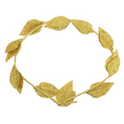 Roman Laurel Wreath Gold headband.
