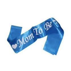 Mom to be satin sash - Beautiful baby shower supplies. - South Africa