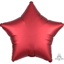 """18"""" Satin Luxe Sangria Star Foil Balloon"""