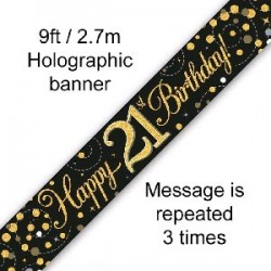 Happy 21st Birthday Banner (2.7m)