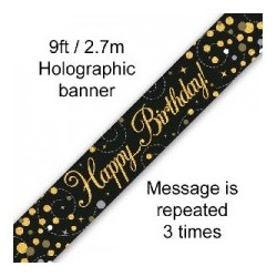 Sparkling Happy Birthday Banner