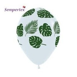 "12"" Green Leaves latex balloon"
