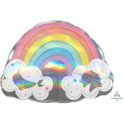 Rainbow Supershape Foil Balloon - www.mypartysupplies.co.za