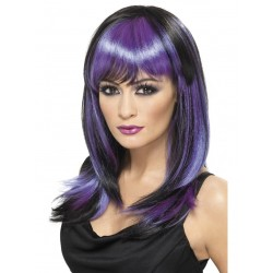 Black and Purple wig