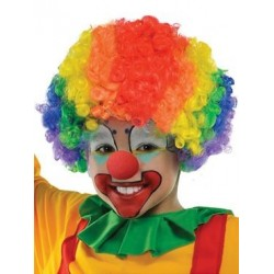 Wig clown Multi Colour