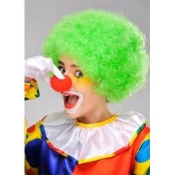 Wig clown neon green