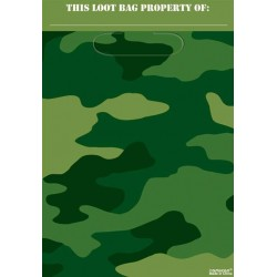 Military Camo Party Bags (pack of 8)