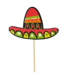 Mexican Hat cupcake toppers - South Africa