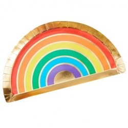Over the Rainbow shaped plates