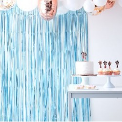 Matt Blue Curtain Backdrop