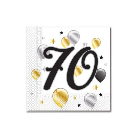 70th Birthday Serviettes| Party Supplies South Africa