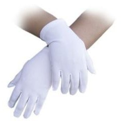 Gloves Material 20cm Short White