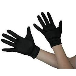 Gloves Material 23cm Short Black