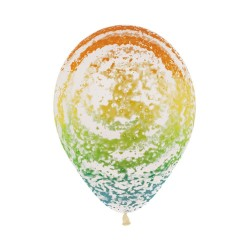 "12"" Graffiti Rainbow Latex Balloon"