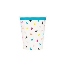 Triangle Confetti themed party paper cups