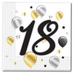 18th Birthday Celebration Lunch Serviettes