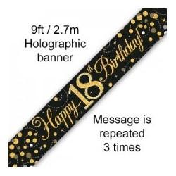 Sparkling Fizz Happy 18th Birthday Banner (2.7m)