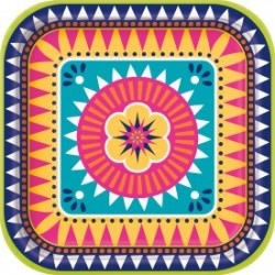 Boho Fiesta Square plates - South Africa