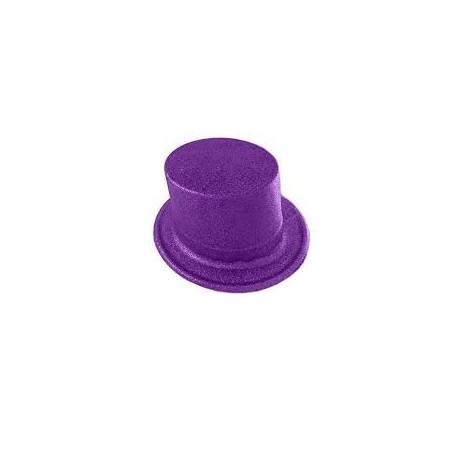 Top Hat Glitter Purple