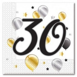 30th Birthday Serviettes| Party supplies South Africa
