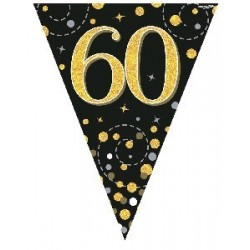 Sparkling Fizz 60th Birthday Flag Banner (3.9m)