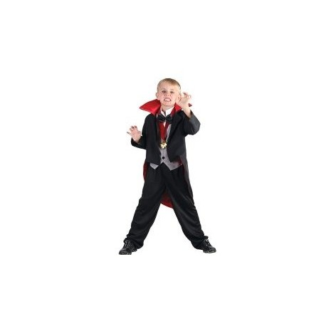 Vampire Black and Red Costume (110-120cm)