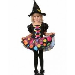 Witch polka dot costume